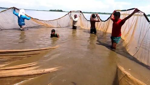 渔网够大人够多,但这鱼获应该谁都没有想到!