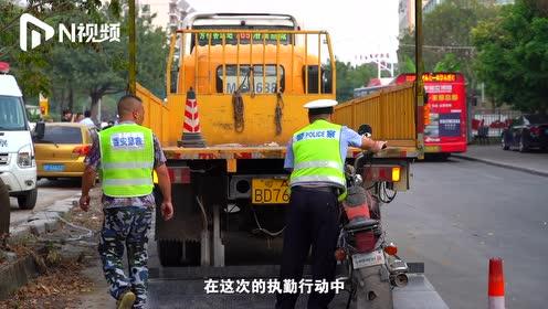 广州南浦五类车横行,执法部门1小时抓20台,非法摩托车居多