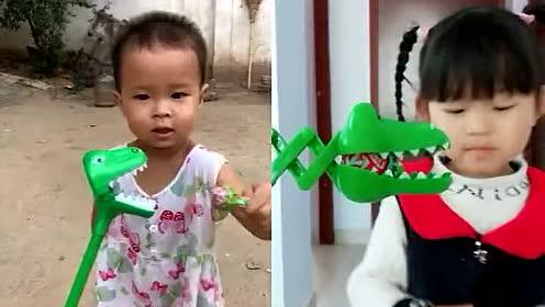 没想到,小鳄鱼也想吃棒棒糖呢