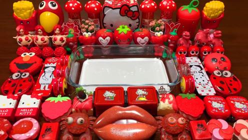 大嘴唇彩泥+起泡胶+凯蒂猫彩泥+炫彩果冻泥,DIY无硼砂史莱姆教程