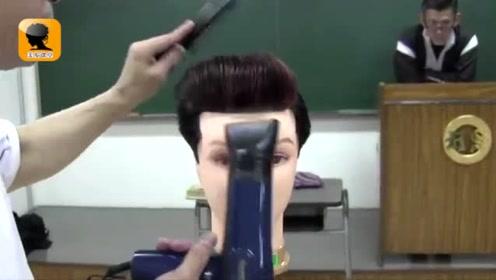 六十年代的老师傅,吹油头发型,一出手就不一样