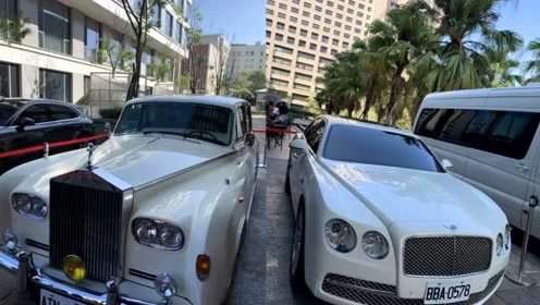 林志玲婚车曝光超豪华 酒店大厅设媒体厅方便记者