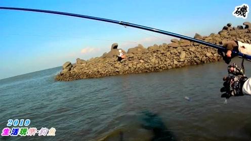 海钓,起早去海边钓鱼,没想到全是这种鱼