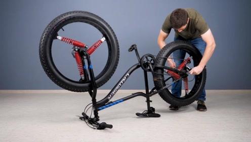 自行车减震效果太差怎么办?小伙一个巧妙的改造,轻松解决
