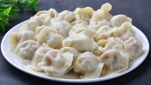 白菜水饺这样调馅才叫香,白菜不出水,味道格外鲜美