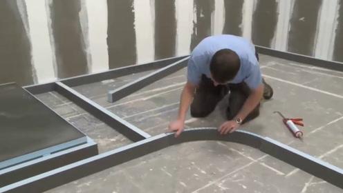 实拍外国的建筑工人,简直像开了挂,一天工资500不过分吧?