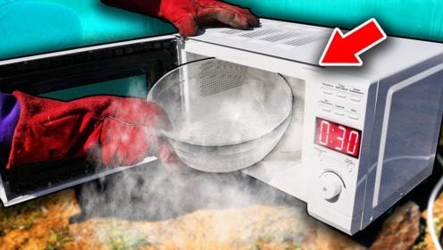 将液氮放进微波炉中加热,会发生什么事情?到底是谁征服谁呢