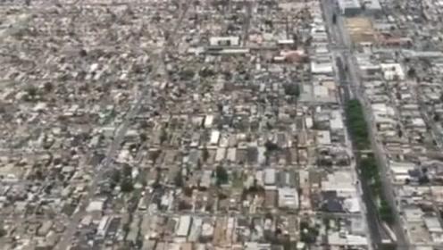 美国洛杉矶,想出去走走,发现方圆几十公里全都一个样