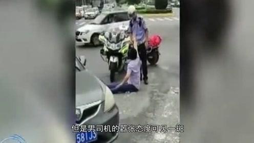 """""""帽子姐""""甘拜下风,男司机当街暴打交警,连续12次击头部"""