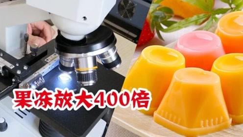 你爱吃的果冻,在显微镜下放大800倍,原来是这样的