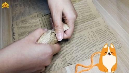 旧报纸和塑料瓶的妙用,做一个小礼盒!