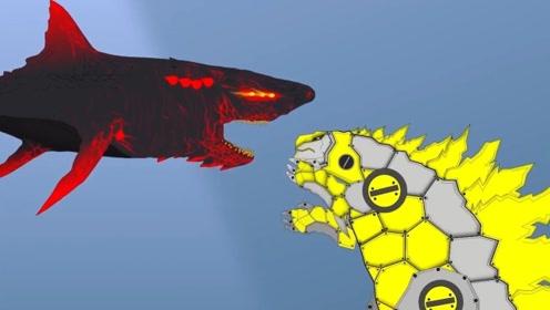 武装哥斯拉下海大战烈焰巨齿鲨,它使用这个一招制胜