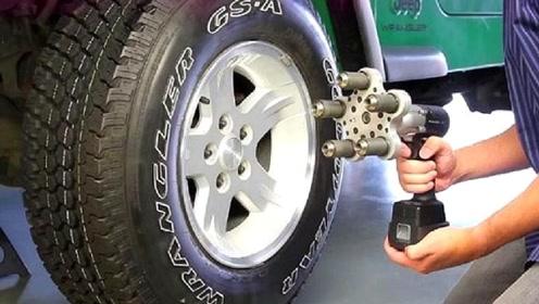 """大学生首创""""换轮胎神器"""",换轮胎效率大大提升,网友:太方便了!"""