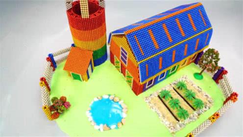 创意巴克球教程,如何用磁力巴克球,太空沙建造城堡乐园?