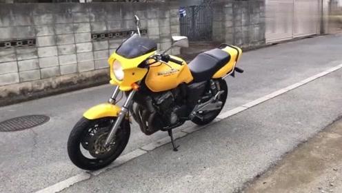 机车摩托:最便宜的四缸cb400摩托车,声浪很优秀