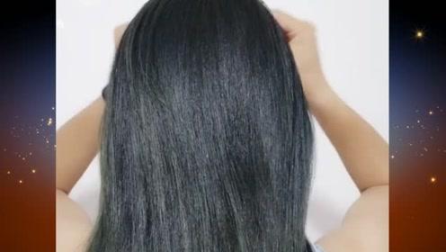 推荐一款简单又实用的扎发发型,洋气好看又易学,你学会了吗