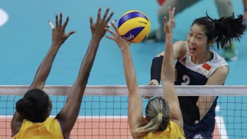 奥运会上的朱婷真牛!致命一扣让对手自闭,把巴西小球迷都打哭了