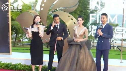 60秒抢鲜看第二届海南岛国际电影节红毯 杨幂大秀小蛮腰