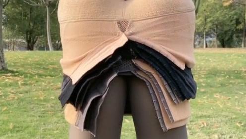 一到冬天就这样,打底裤穿了一层又一层,难怪腿那么粗