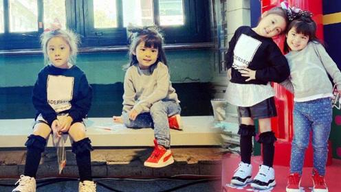 咘咘波妞做起了童模,姐妹俩星范十足,镜头下波妞秒变小美女