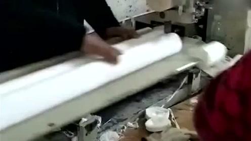 圆筒的卫生纸生产过程,特别简单