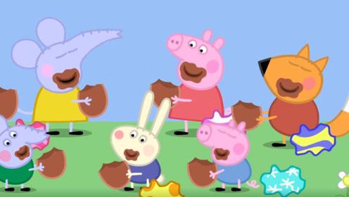 小猪佩奇的弟弟想吃巧克力棒聪明的佩奇马上就做出来了 玩具故事