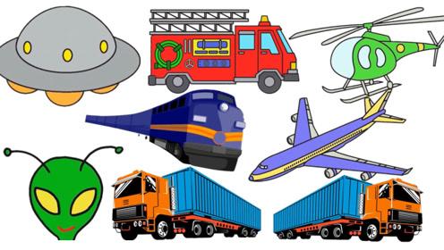快乐英语汽车玩具学习交通工具书适优阅儿童英语
