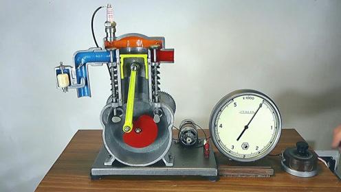 单缸发动机如何工作的,这个模型让我脑洞大开