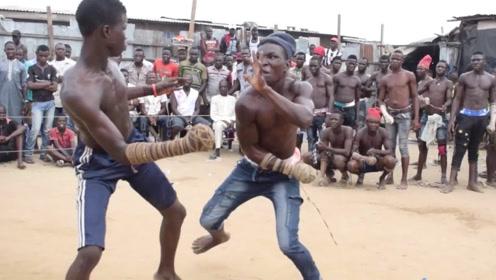 非洲最原始的拳击比赛,动作简单粗暴,看完让人大开眼界!