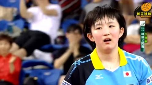 """日本小将放高球意外""""擦边"""",丁宁照样给你救上桌,日本小将看得一脸呆"""