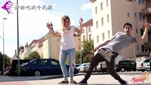 """当""""鬼步舞""""遇上""""机械舞"""",外国舞蹈达人的街头斗舞,太精彩了"""