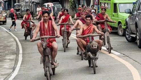 土著部落交通工具太抢眼,霸气车头吸睛,网友:自行车彻底输了!