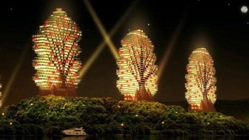 三亚投资百亿建筑像积木?九栋建筑宛如九棵大树,网友:这确定是酒店没错?