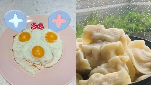 """周杰伦煮水饺做""""米奇""""头像煎蛋:老婆不在家靠自己"""