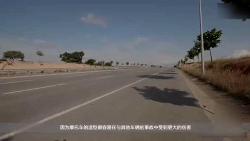 一辆撞不倒的摩托车,安全系数最高,如果上市了老司机们要吐血