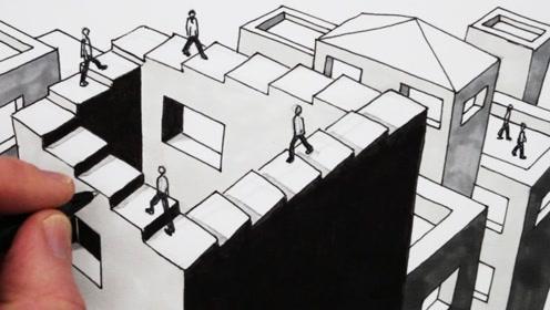彭罗斯阶梯是什么?现实生活不可能存在!与克莱因瓶存在空间相反