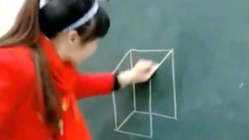 被老师骗了这么多年,原来正方体可以这样画更简单