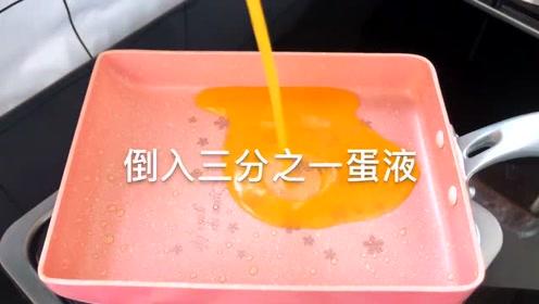 解锁蛋包饭新做法,一层层蛋液包着炒饭,小盆友超喜欢吃