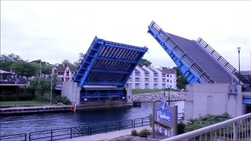 看了美国发明的可变形大桥,才知道有多先进,科技改变了生活
