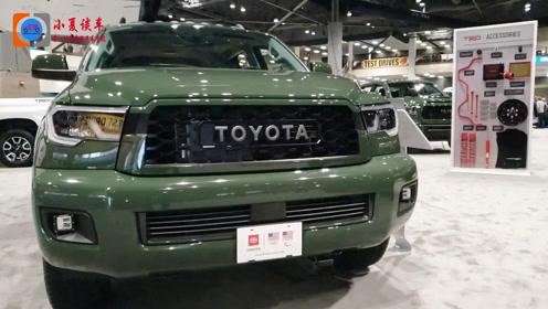 2020款丰田SEQUOIA TRD七座车型实拍,越野性能大幅度提升