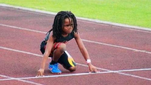 速度最快的孩子,仅7岁就跑出14.59秒,他有信心打败博尔特