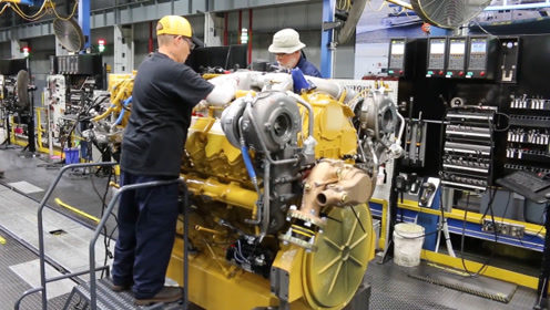 卡特车的发动机制造,如此严谨的过程,造出来的产品肯定不差!