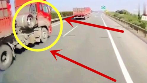 高速路口偶遇无良司机,半挂车强行变道,下秒是个狠人!