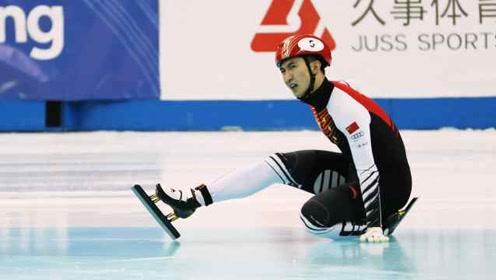 带伤出战第二次500米,武大靖再摔出赛道