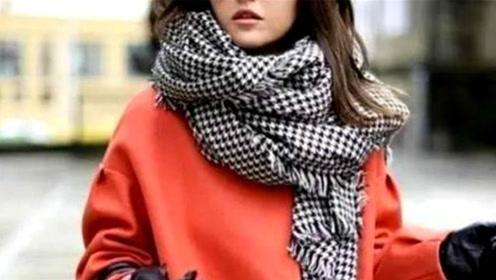 教你围巾的四种常用戴法,保暖又时尚,去哪里回头率都非常的高