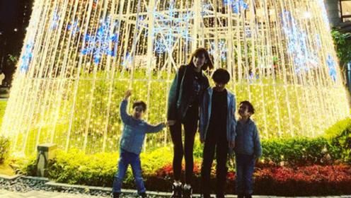 陈若仪晒三个儿子近照 Kimi长高不少双子星超活泼