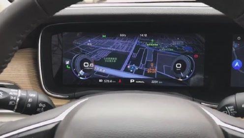 新车抢鲜看:广汽传祺GA6液晶仪表,与中控屏功能关联,科技感强