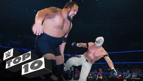 身高1米68的神秘人雷尔在WWE擂台上十大精彩以小打大