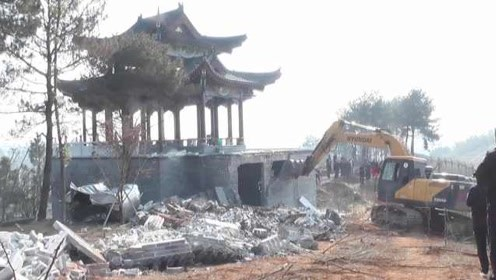总面积达7000平!湖南邵东第一豪宅被拆:每一挖机下去都是钱