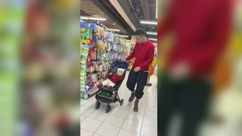 当舅舅带孩子的时候,只要去了超市,居然成了这样!